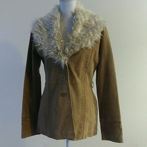 BKE Diva leather jacket Small removable fur collar